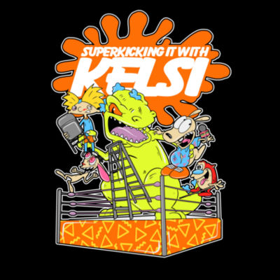 SuperKicking It with Toons Shirt Design